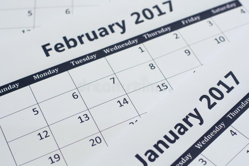 Fondo de la página del calendario Hojas del calendario foto de archivo libre de regalías