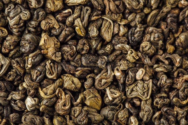 Fondo de la pólvora del té verde imagenes de archivo