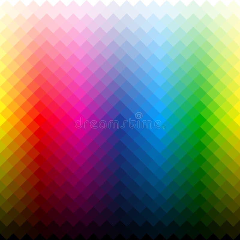 Fondo de la paleta de colores ilustración del vector