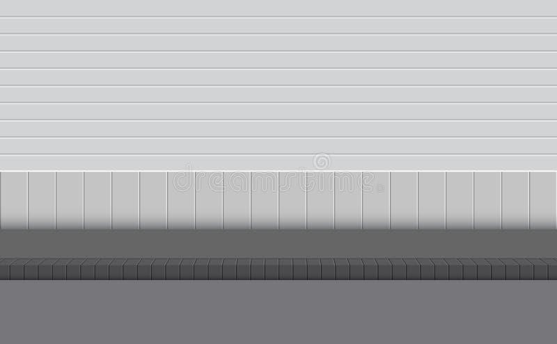 Fondo de la pared de la calle y del camino del sendero ilustración del vector
