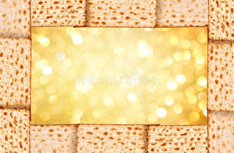 Fondo de la pascua judía. matzoh fotografía de archivo
