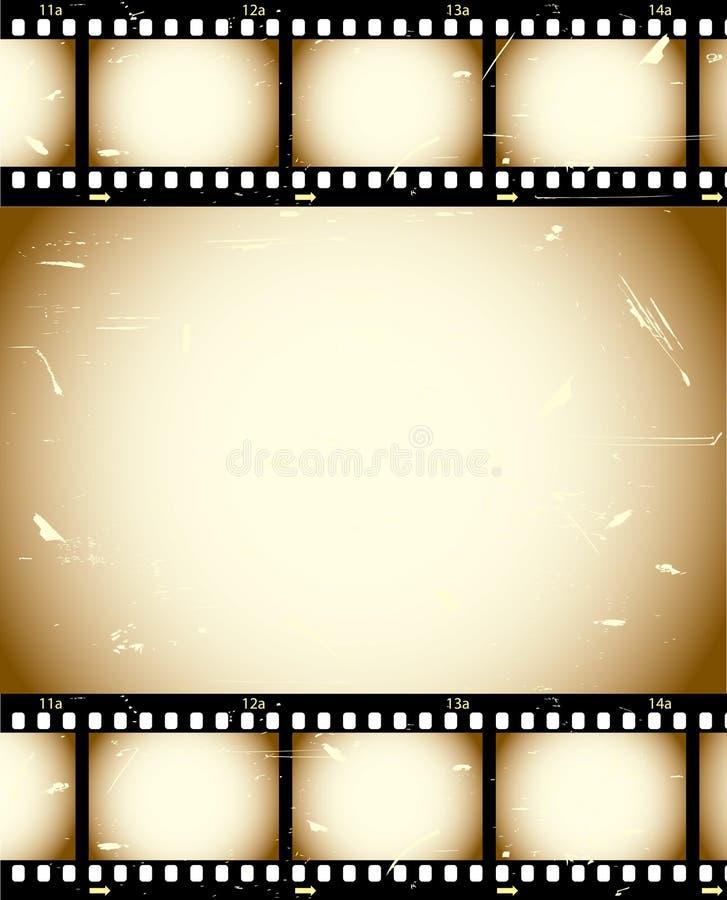 Fondo de la película de Grunge ilustración del vector