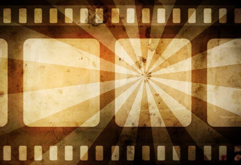 Fondo de la película de la vendimia stock de ilustración