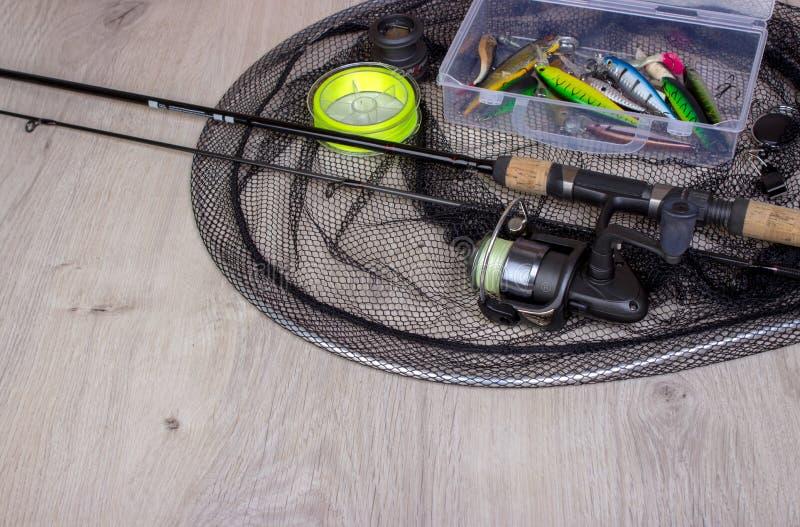 Fondo de la pesca deportiva fotografía de archivo libre de regalías