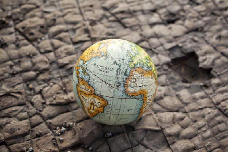 Fondo de la piedra del globo del mundo imágenes de archivo libres de regalías