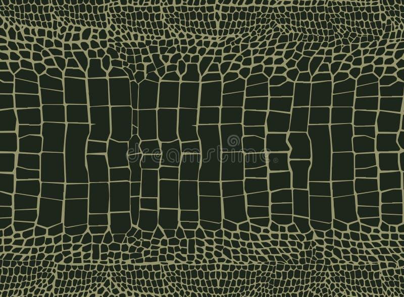 Fondo de la piel del cocodrilo ilustración del vector