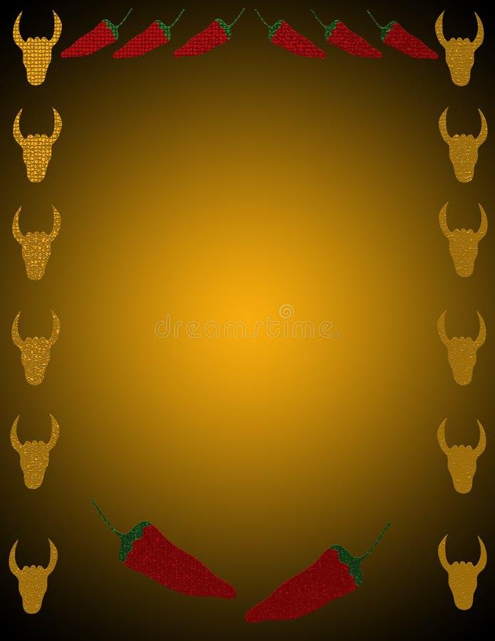 Fondo de la pimienta y del ganado libre illustration
