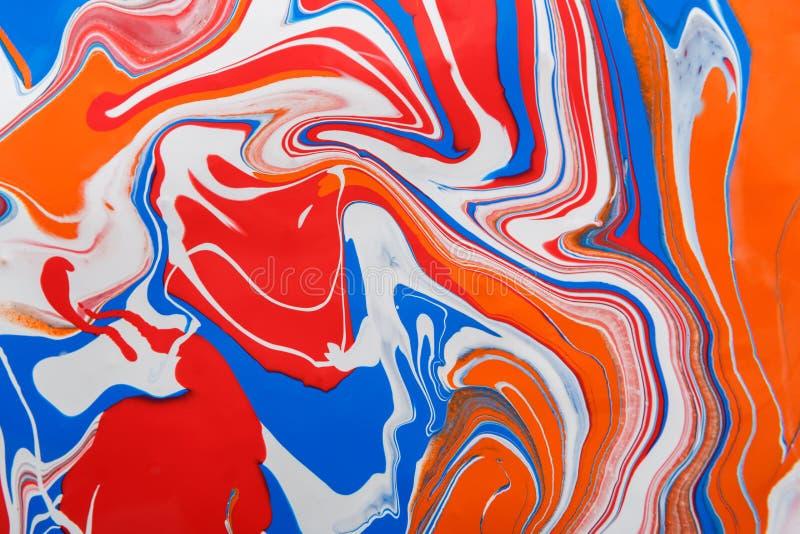 Fondo de la pintura acrílica del líquido que vetea Textura flúida del extracto de la pintura imágenes de archivo libres de regalías