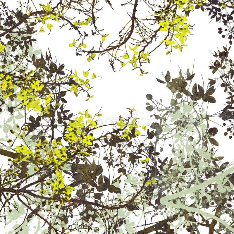 Fondo de la pintura de Digitaces del arte de la flor imagen de archivo libre de regalías