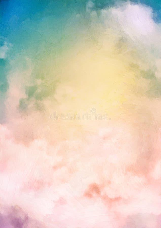 Fondo de la pintura del cielo de la salida del sol ilustración del vector