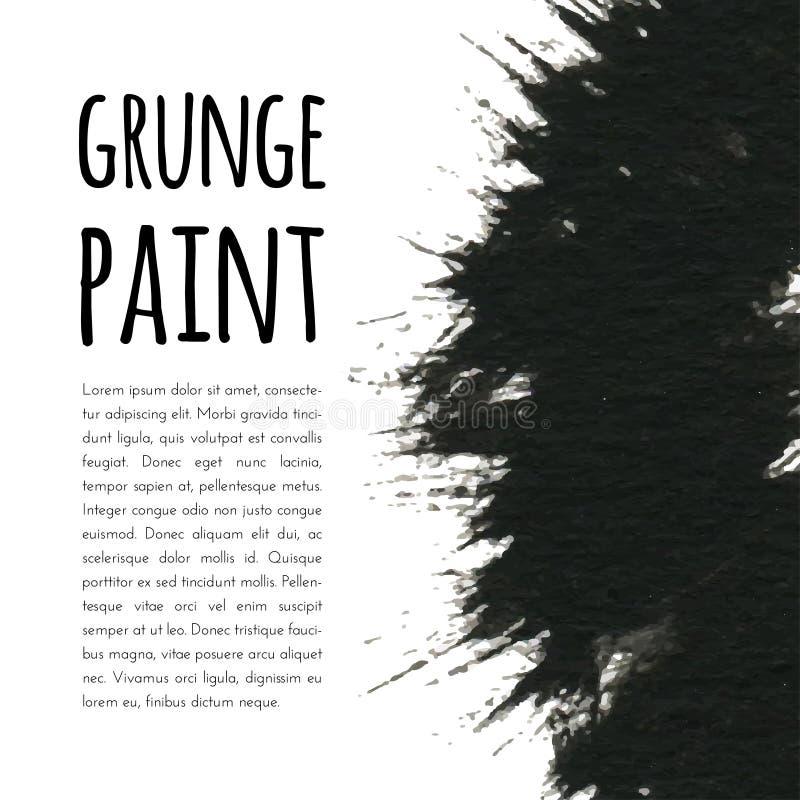 Fondo de la pintura de Grunge Ilustración del vector para su agua dulce de design stock de ilustración