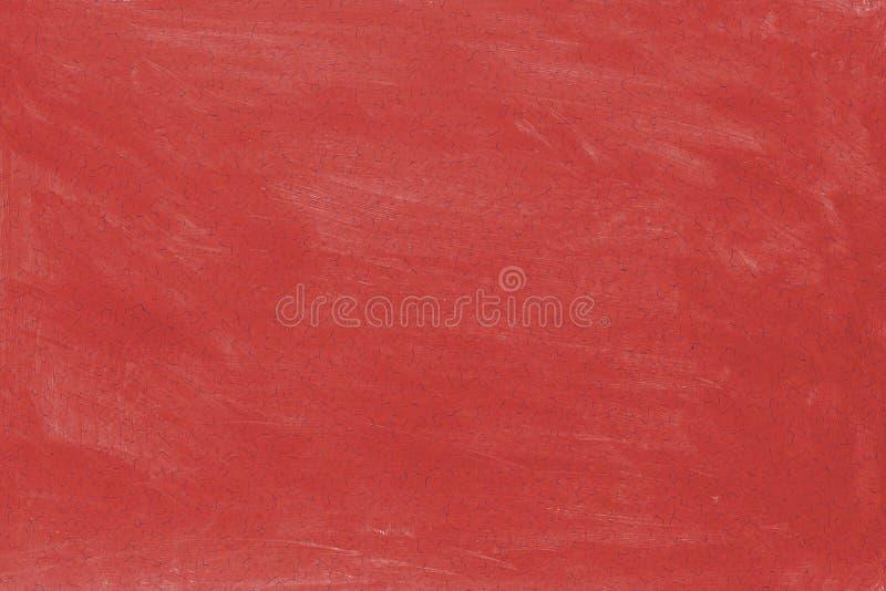Fondo de la pintura lavada rojo agrietado Textura de la pared vieja imagen de archivo