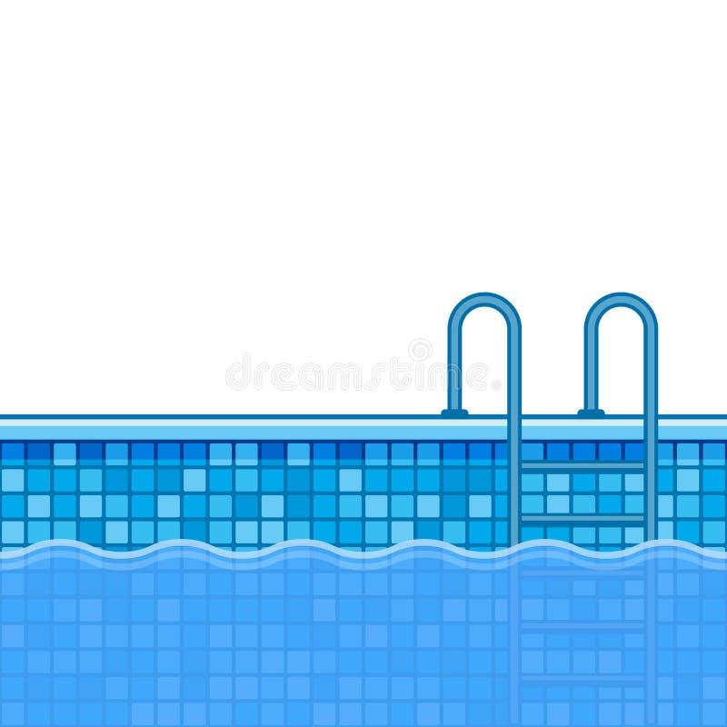 Fondo de la piscina con las escaleras Vector ilustración del vector