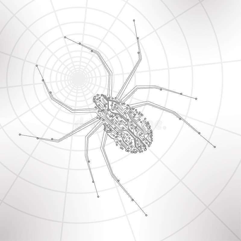 Fondo de la placa de circuito, ejemplo de la tecnología, ilustración del vector