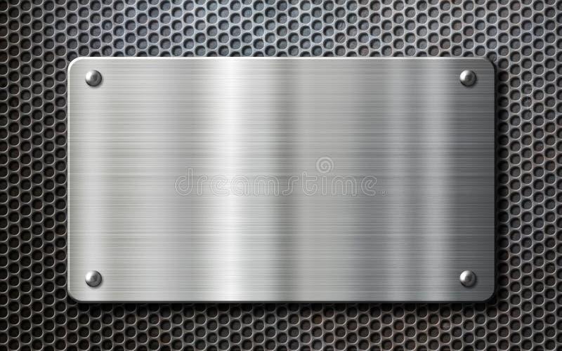 Fondo de la placa de metal del acero inoxidable imagen de - Figuras de acero inoxidable ...