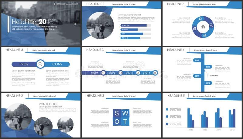Fondo de la plantilla de la presentación de Powerpoint ilustración del vector