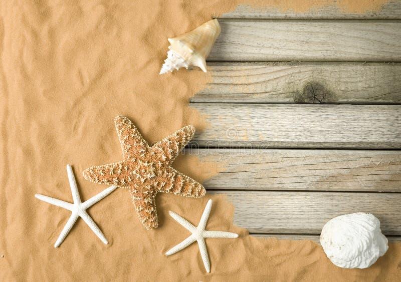Fondo de la playa imagenes de archivo
