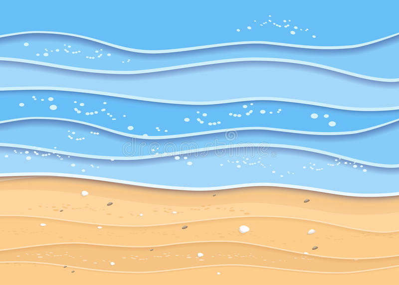 Fondo de la playa del mar del verano stock de ilustración