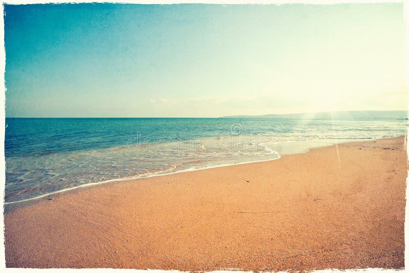 Fondo de la playa del vintage foto de archivo libre de regalías