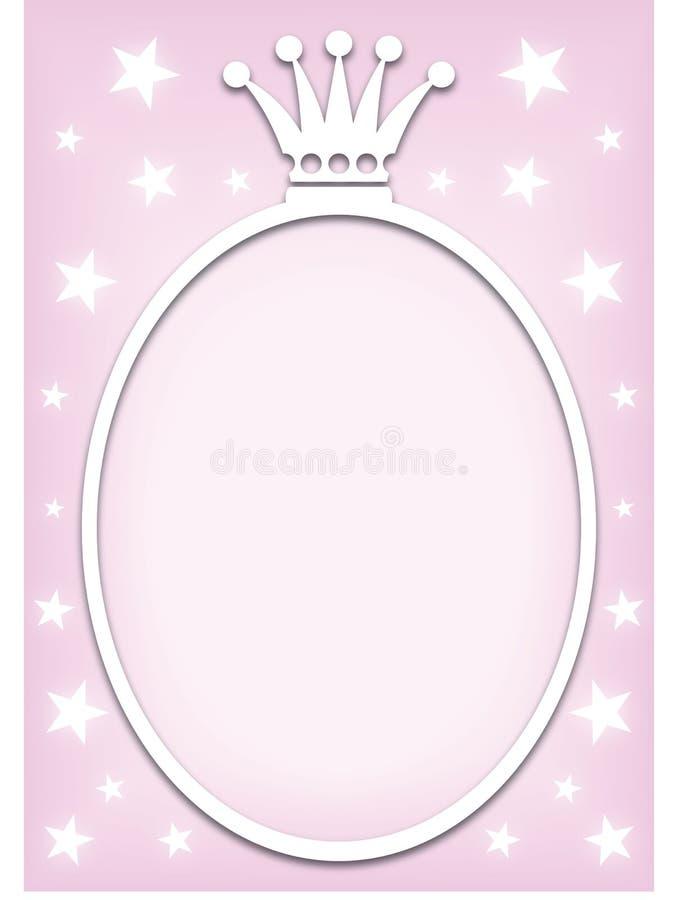 Fondo de la princesa stock de ilustración