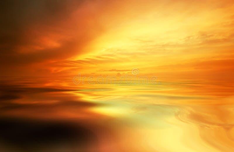 Fondo de la puesta del sol fotos de archivo libres de regalías