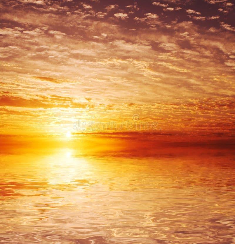 Fondo de la puesta del sol fotos de archivo