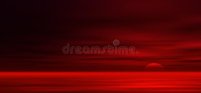 Fondo de la puesta del sol ilustración del vector