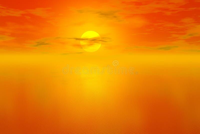 Fondo de la puesta del sol stock de ilustración