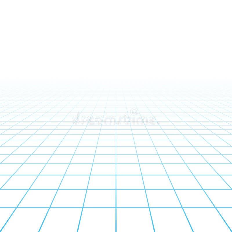 Fondo de la rejilla de la perspectiva libre illustration