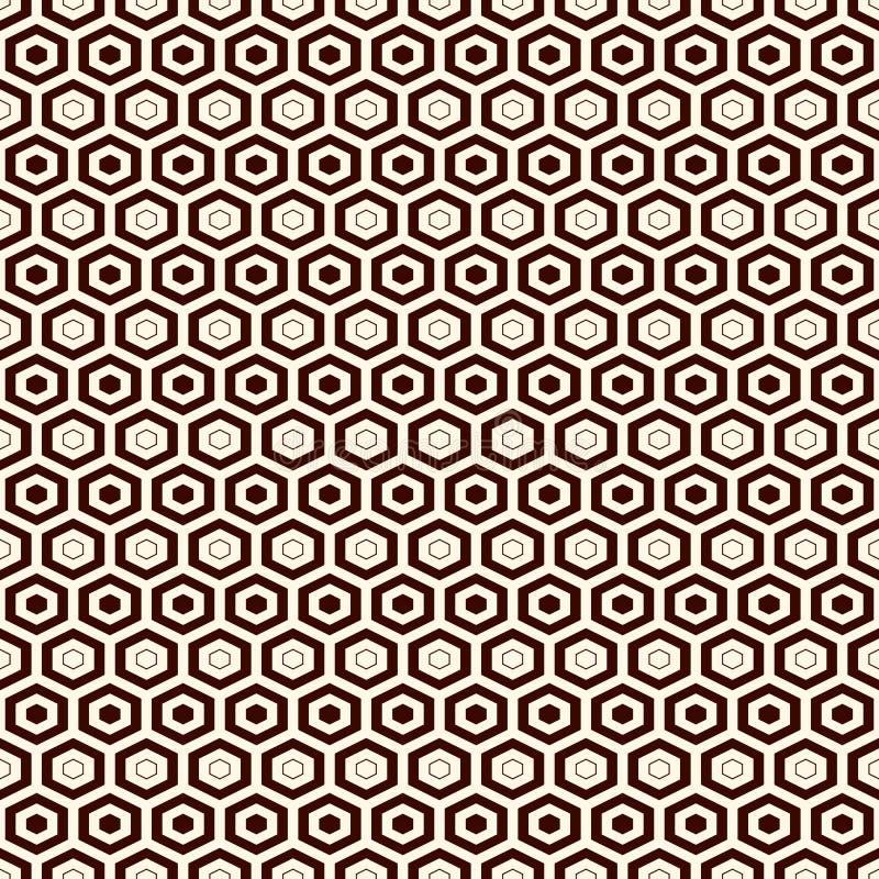 Fondo de la rejilla del panal Papel pintado repetido esquema del hexágono Modelo superficial inconsútil con el ornamento geométri libre illustration