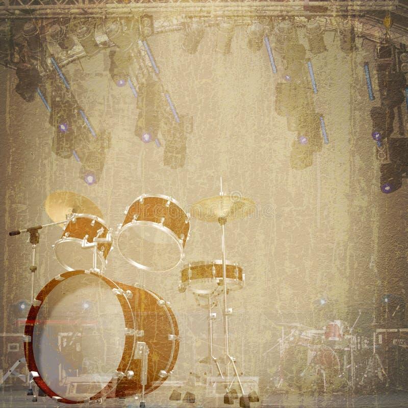 Fondo de la roca del jazz ilustración del vector