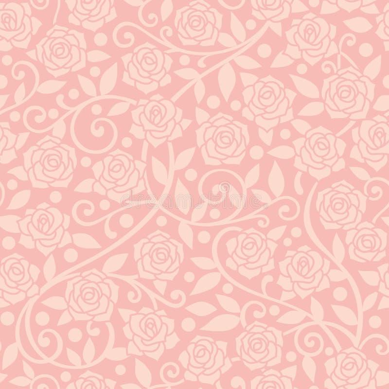 Fondo de la rosa del rosa ilustración del vector