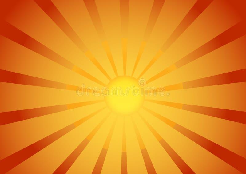 Fondo de la salida del sol stock de ilustración