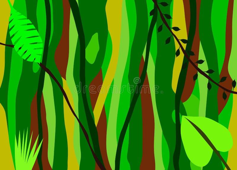 Fondo de la selva ilustración del vector