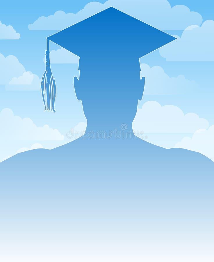 Fondo De La Silueta De La Graduación Imagenes de archivo