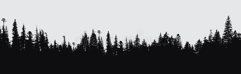 Fondo de la silueta del bosque ilustración del vector