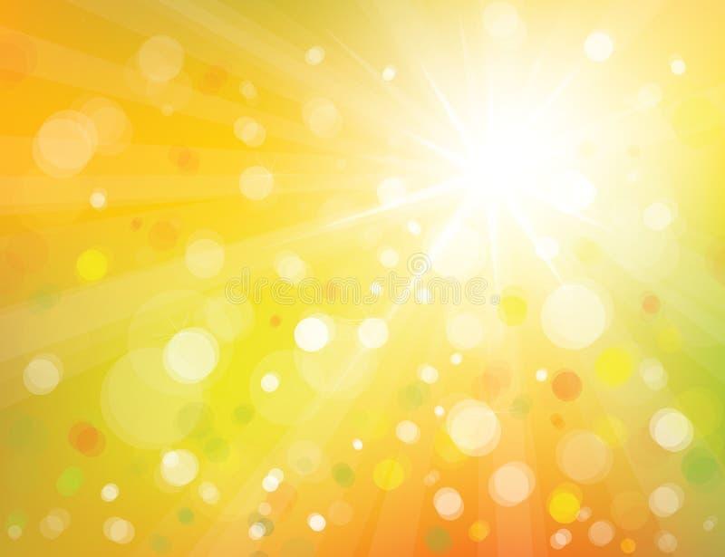 Fondo de la sol del vector. ilustración del vector
