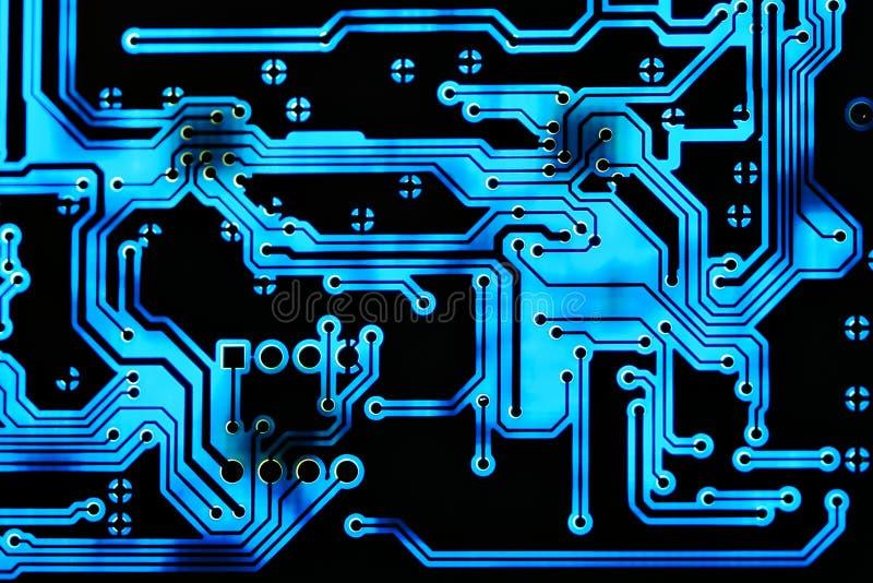Fondo de la tarjeta de circuitos fotografía de archivo