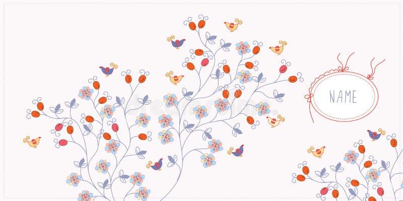 Fondo de la tarjeta de felicitación con las flores libre illustration