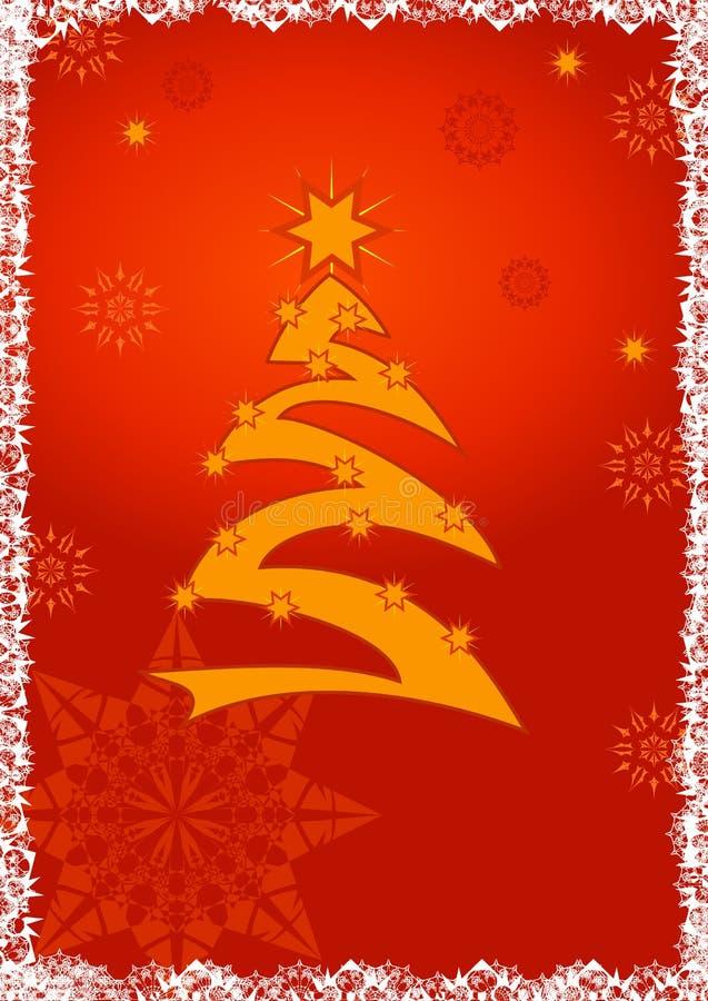 Fondo de la tarjeta de felicitación de la Navidad foto de archivo