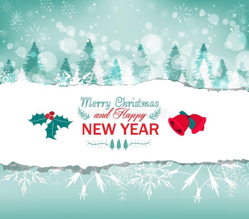 Fondo de la tarjeta de felicitación de la Navidad del vintage ilustración del vector