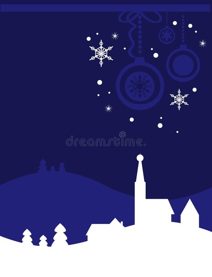 Fondo de la tarjeta de Navidad stock de ilustración