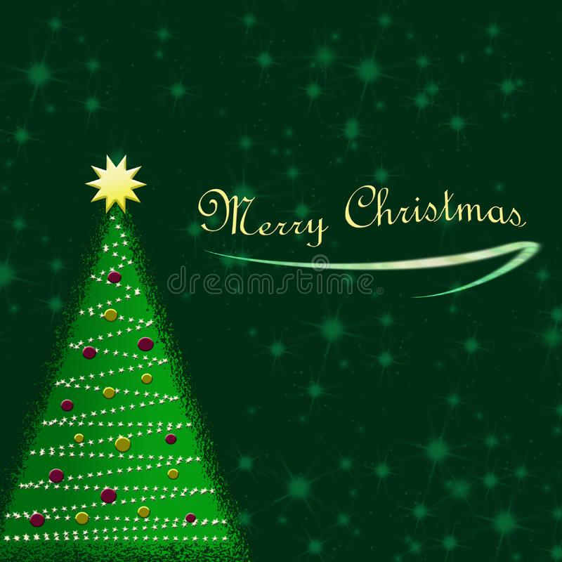 Fondo de la tarjeta de Navidad fotos de archivo
