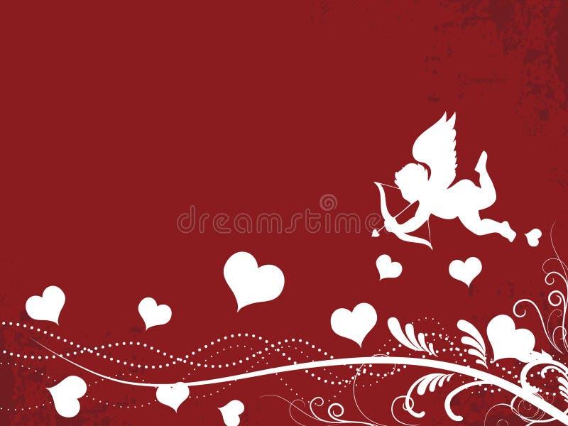 Fondo de la tarjeta del día de San Valentín libre illustration