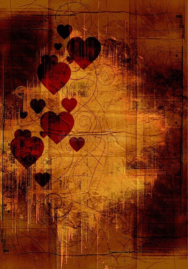 Fondo de la tarjeta del día de San Valentín de Grunge libre illustration