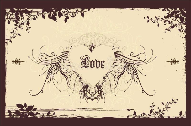Fondo de la tarjeta del día de San Valentín de la vendimia libre illustration