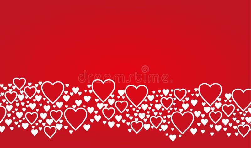 Fondo de la tarjeta del día de tarjetas del día de San Valentín stock de ilustración