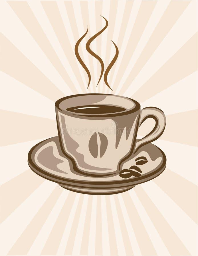 Fondo de la taza de café libre illustration
