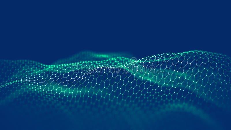 Fondo de la tecnología de Blockchain Red y concepto de programación de la cadena de bloque del fintech de Cryptocurrency Segwit a fotografía de archivo