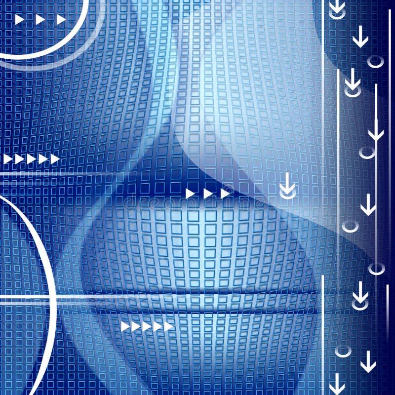 Fondo de la tecnología con dimensiones de una variable abstractas ilustración del vector